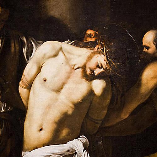 Caravaggio la Flagellazione Museo di Capodimonte Napoli