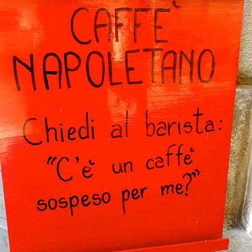 caffe sospeso tradizione napoletana
